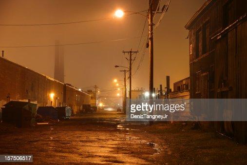 Dark Urban Road