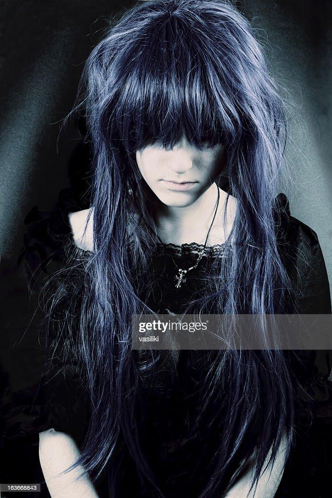 Dark woman portrait