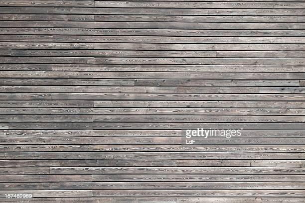 Dark wood cladding of a modern building