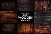 Dark Rustic wooden background, old wood texture with natural pattern, collection