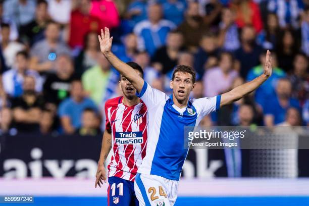 Darko Brasanac of CD Leganes gestures during the La Liga 201718 match between CD Leganes and Atletico de Madrid on 30 September 2017 in Madrid Spain