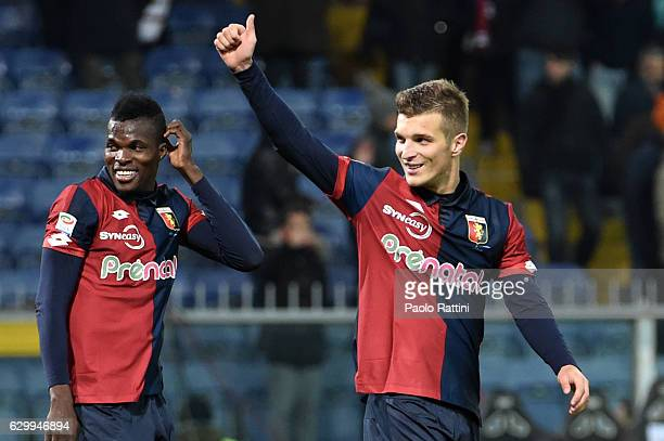 Darko Lazovic of Genoa celebrates at the end of the Serie A match between Genoa CFC and ACF Fiorentina at Stadio Luigi Ferraris on December 15 2016...