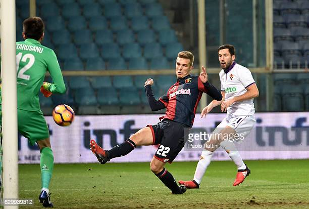 Darko Lazovic of Genoa scores a goal 10 during the Serie A match between Genoa CFC and ACF Fiorentina at Stadio Luigi Ferraris on December 15 2016 in...