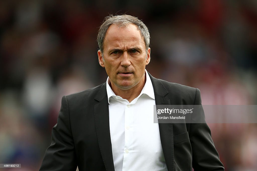 Darko Milanic the new manager of Leeds United looks on prior to the start of the Sky Bet Championship match between Brentford and Leeds United at...