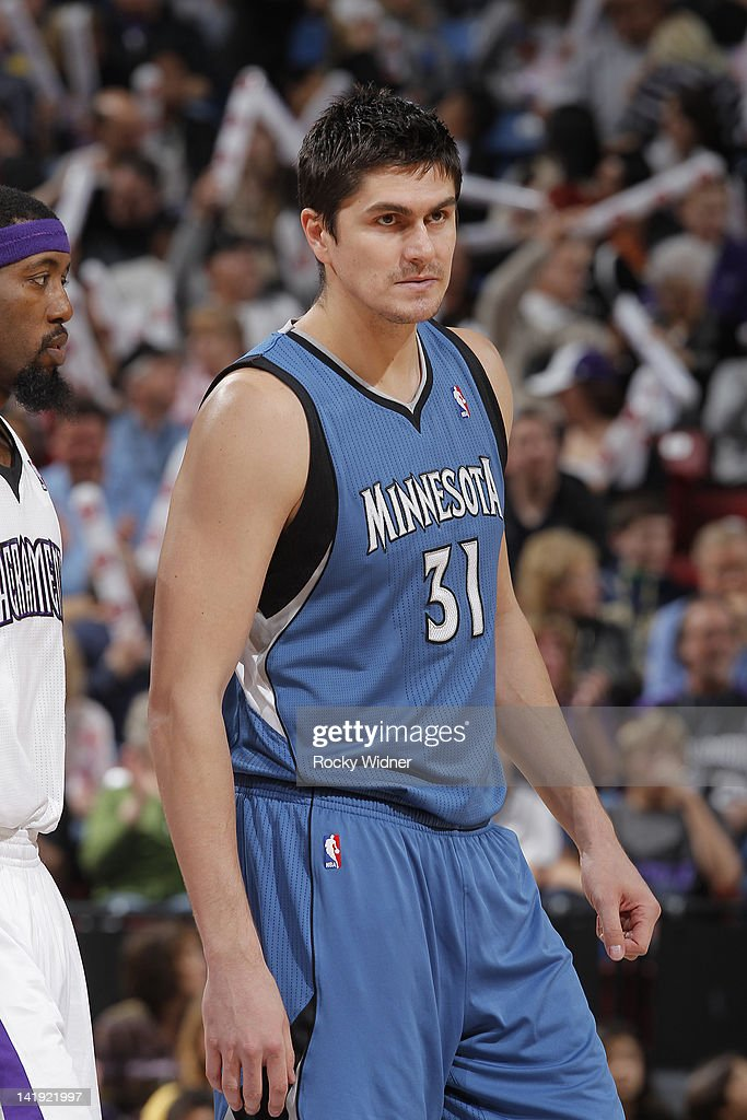 Darko Milicic #31 of the Minnesota Timberwolves faces off against the Sacramento Kings on March 18 2012 at Power Balance Pavilion in Sacramento, California.