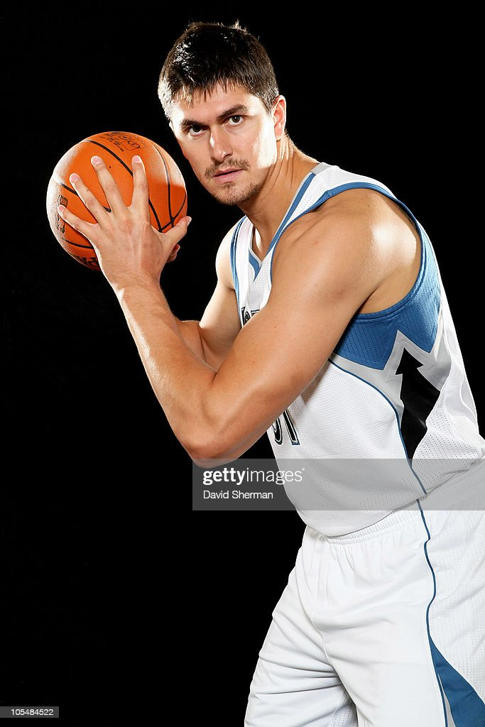 <a gi-track='captionPersonalityLinkClicked' href=/galleries/search?phrase=Darko+Milicic&family=editorial&specificpeople=204586 ng-click='$event.stopPropagation()'>Darko Milicic</a> #31 of the Minnesota Timberwolves poses for a portrait during 2010 NBA Media Day on September 24, 2010 at Lifetime Fitness Training Center in the Target Center in Minneapolis, Minnesota.