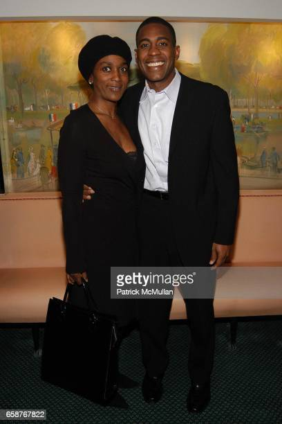 Darleen Gillard and Carlos Watson attend Andre Leon Talley and Robert Burke host at La Caravelle for Loulou de la Falaise Collection on February 12...