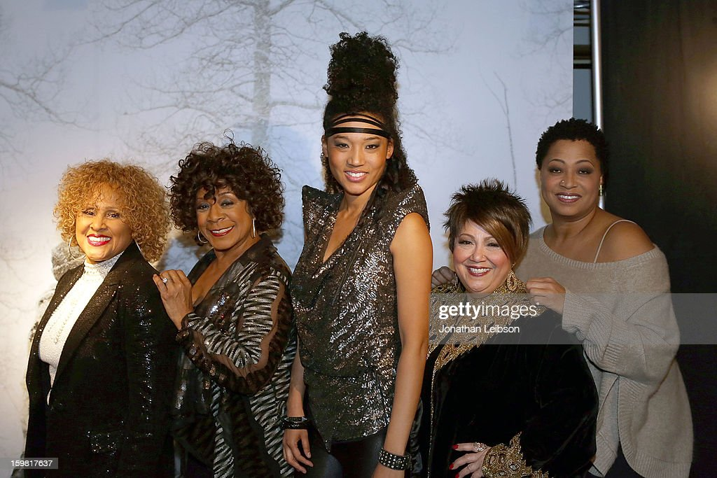 <a gi-track='captionPersonalityLinkClicked' href=/galleries/search?phrase=Darlene+Love&family=editorial&specificpeople=220743 ng-click='$event.stopPropagation()'>Darlene Love</a>, Merry Clayton, Judith Hil, Tata Vega and Lisa Fischer attend the A Celebration Of Music And Film - 2013 Sundance Film Festival at Sundance House on January 20, 2013 in Park City, Utah.