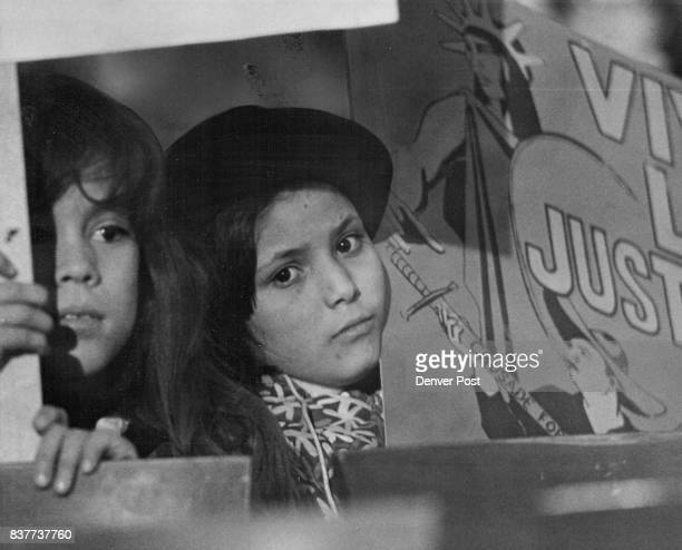 Darlene Quintana And Rachel Herrera Who Carried Signs Leave In MidMeeting They were among members of the Crusade for Justice group and walked out...