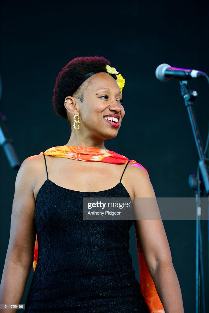 Darliene Parker of Maceo Parker performs onstage at Waterfront Blues Festival at Tom McCall Waterfront Park on July 1 2016 in Portland Oregon