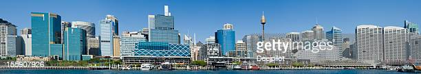 Darling Harbour City Skyline in Sydney Australia
