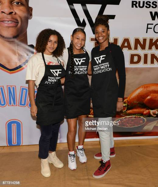 Darly and guest attend Russell Westbrook Why Not Foundation 6th Annual Dinner on November 21 2017 in Los Angeles California