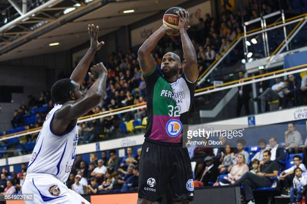 Darnell Jackson of Boulazac during the Pro A match between Levallois Metropolitans and Boulazac at Salle Marcel Cerdan on October 21 2017 in Paris...