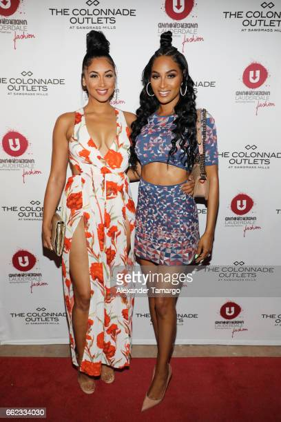 Darnell Nicole and and Ashley Nicole Roberts attend The Nicole Miller 2017 Spring Collection At The Underground Lauderdale Fashion Weekend Brought To...