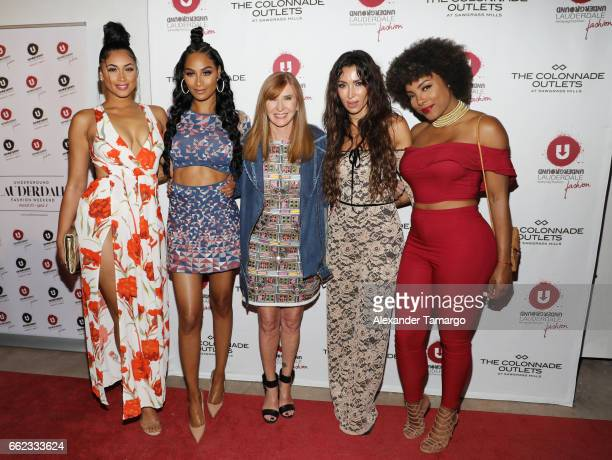 Darnell Nicole Ashley Nicole Roberts designer Nicole Miller Metisha Schaefer and Hencha Voigt attend The Nicole Miller 2017 Spring Collection At The...
