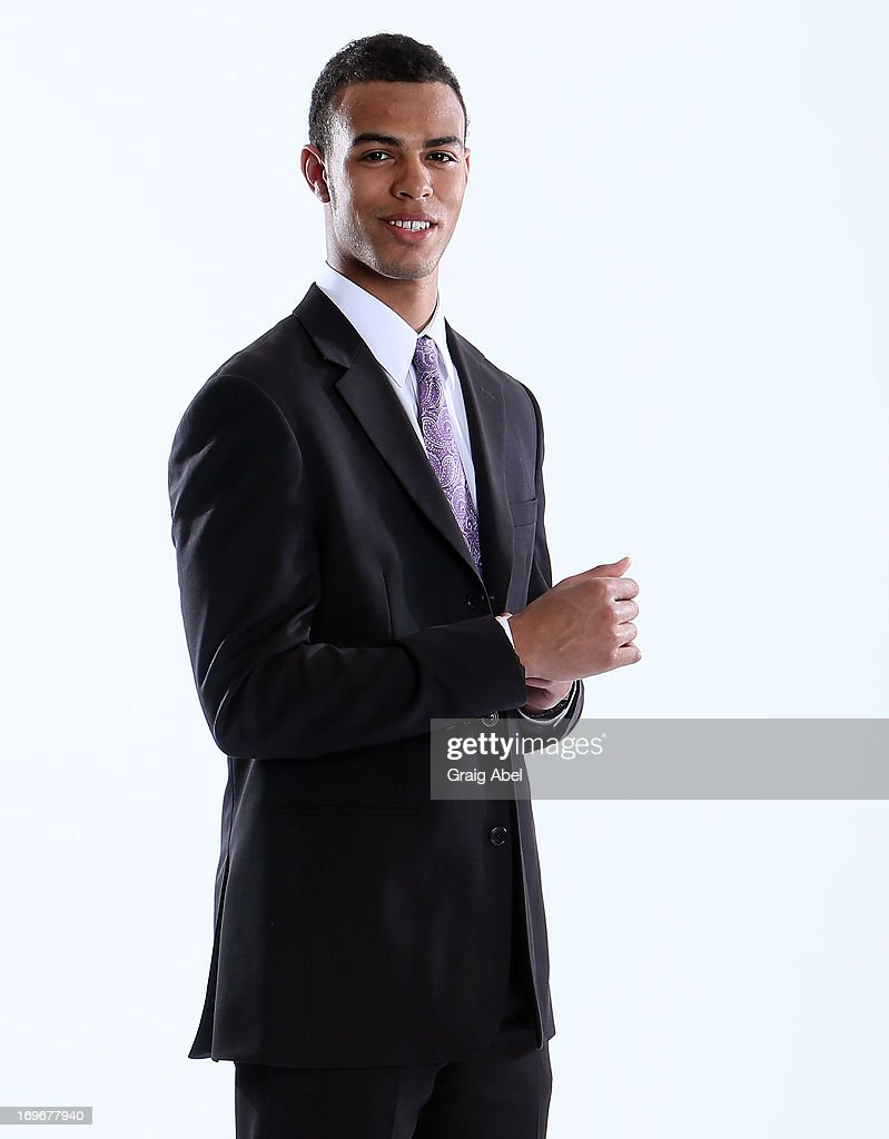 Darnell Nurse has his formal portrait taken during the 2013 NHL Combine May 30, 2013 at the Westin Bristol Place Hotel in Toronto, Ontario, Canada.