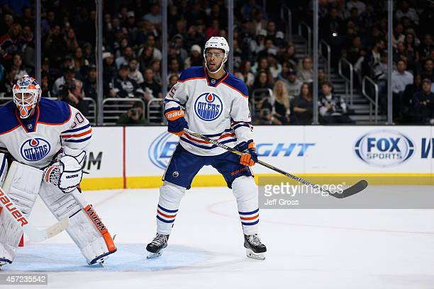 Darnell Nurse of the Edmonton Oilers skates against the Los Angeles Kings at Staples Center on October 14 2014 in Los Angeles California