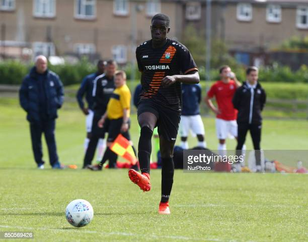 Darnell Smith of Barnet during Central League Cup match between Barnet Under 23s and Southend United Under 23s at Barnet Training Ground London...