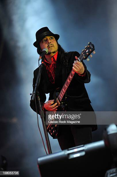 Daron Malakian from System of a Down live onstage at Download Festival 2011 Donington Park Leicester June 11 2011