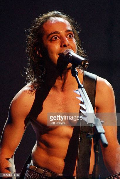 Daron Malakian of System of a Down during MTV Video Music Awards Latinoamerica 2002 Show at Jackie Gleason Theater in Miami FL United States