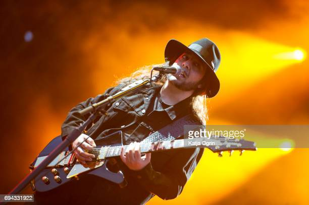 Daron Malakian of System of a Down performing live on Day 1 of Download Festival at Donington Park on June 9 2017 in Castle Donington UK