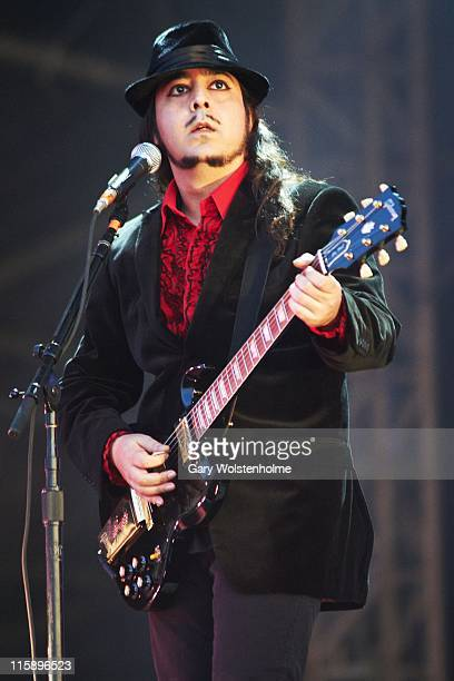 Daron Malakian of System Of A Down performs on stage during the second day of Download Festival at Donnington Park on June 11 2011 in Donnington...