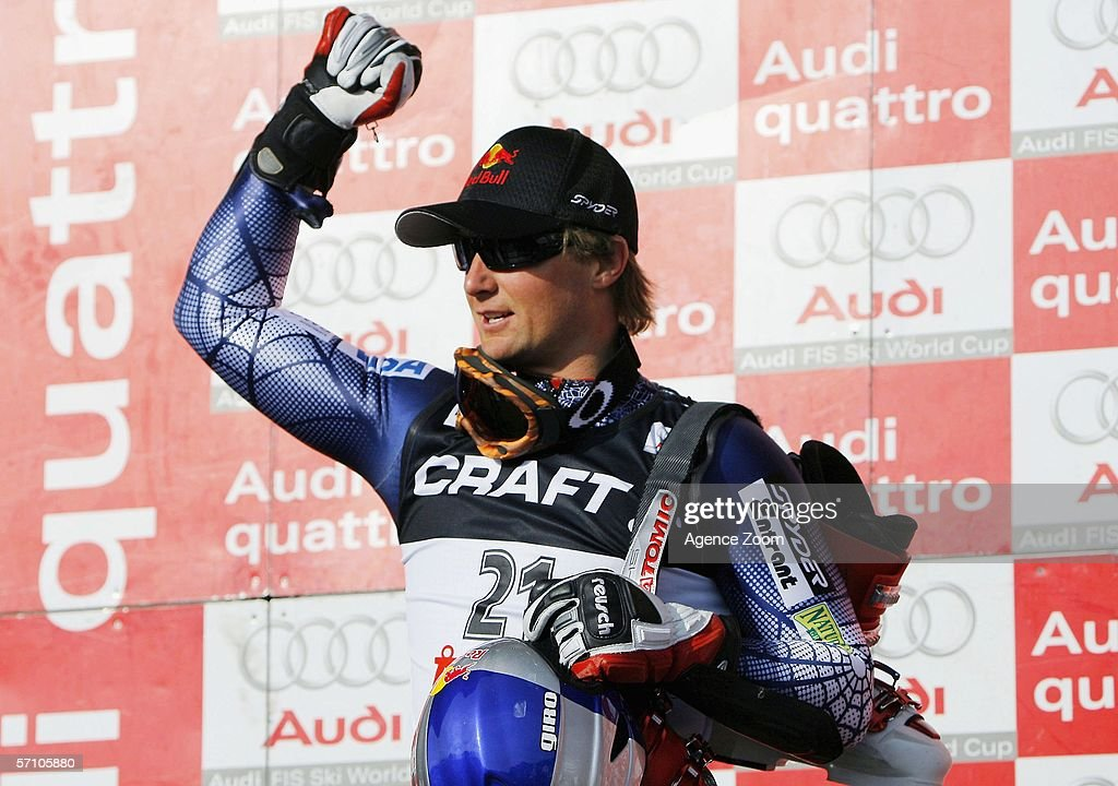 Daron Rahlves of USA takes 2nd place during the FIS Skiing World Cup Super-G - Men's Super-G on March 16, 2006 in Aare, Sweden