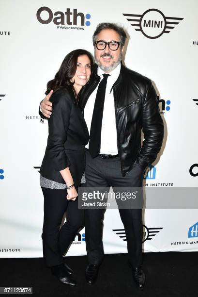 Darra Gordon and Alfredo Paredes attend HetrickMartin Institute's 2017 'Pride Is' Emery Awards at Cipriani Wall Street on November 6 2017 in New York...