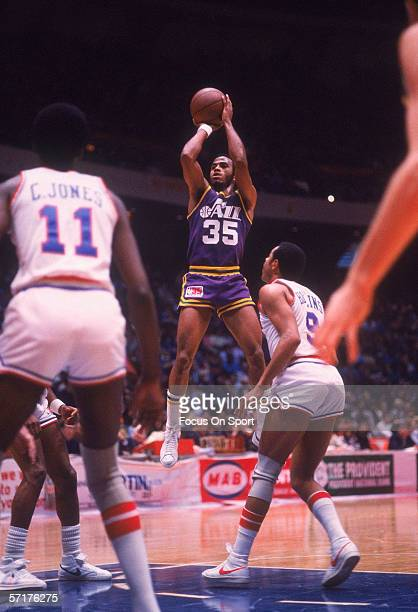 Darrel Griffith of the Utah Jazz makes a jumpshot circa the 1980's during a game