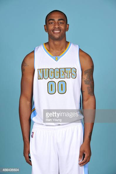 Darrell Arthur of the Denver Nuggets pose for portraits during NBA Media Day on September 23 2014 at the Pepsi Center in Denver Colorado NOTE TO USER...