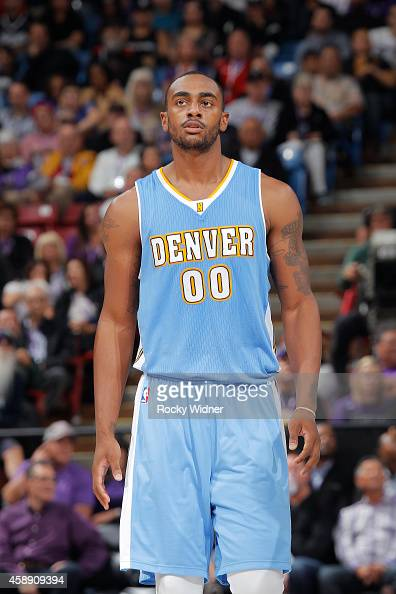 Darrell Arthur of the Denver Nuggets stands on the court during the game against the Sacramento Kings on November 5 2014 at Sleep Train Arena in...