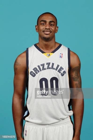 Darrell Arthur of the Memphis Grizzlies poses for a portrait during Memphis Grizzlies Media Day on October 1 2012 at FedExForum in Memphis Tennessee...
