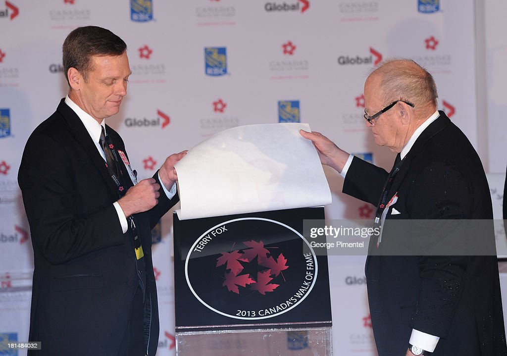 Darrell Fox and Rolly Fox attend Canada's Walk Of Fame Ceremony at The Elgin on September 21, 2013 in Toronto, Canada.