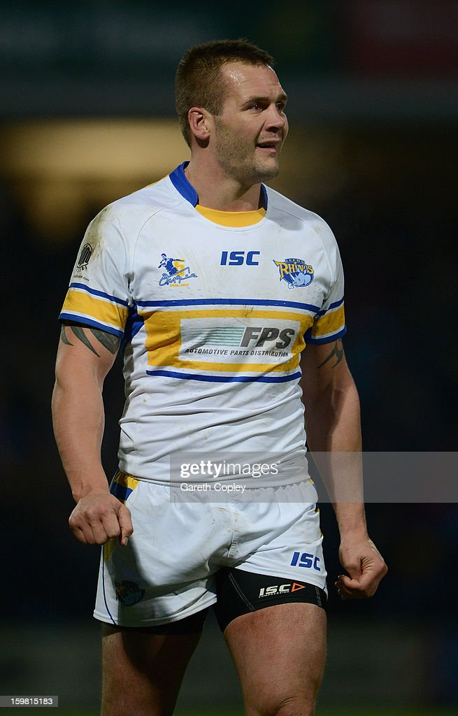 Darrell Griffin of Leeds during Rugby League pre-season friendly between Leeds Rhinos and Bradford Bulls at Headingley Stadium on January 20, 2013 in Leeds, England.