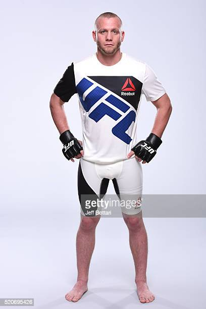 Darrell Horcher poses for a portrait during a UFC photo session on April 12 2016 in St Petersburg Florida