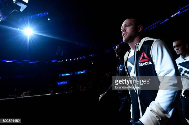 Darrell Horcher prepares to enter the Octagon prior to his lightweight bout against Devin Powell during the UFC Fight Night event at the Chesapeake...