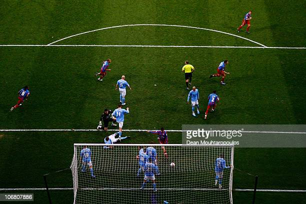 Darren Ambrose of Crystal Palace celebrates scoring from an in direct free kick during the npower Championship match between Crystal Palace and...