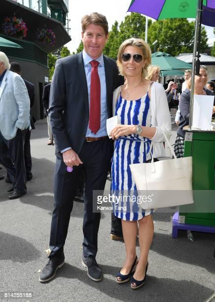 Darren Anderton attends day 11 of Wimbledon 2017 on July 14 2017 in London England
