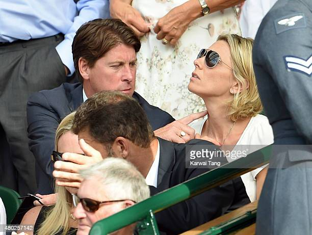 Darren Anderton attends day eleven of the Wimbledon Tennis Championships at Wimbledon on July 10 2015 in London England