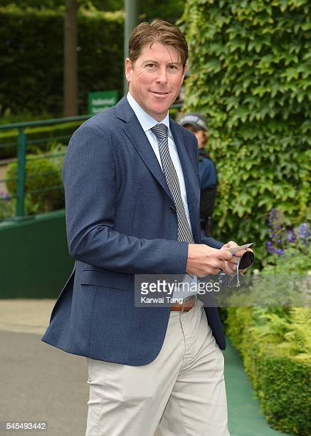 Darren Anderton attends day eleven of the Wimbledon Tennis Championships at Wimbledon on July 08 2016 in London England