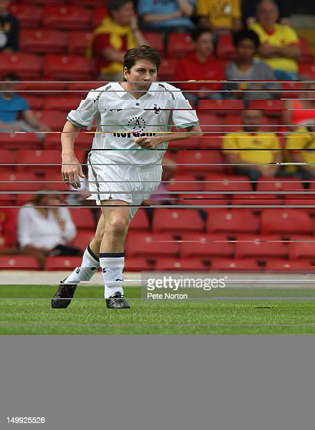 Darren Anderton of Tottenham Hotspur in action during a match between Watford Legends and Tottenham Hotspur Legends at Vicarage Road on August 5 2012...