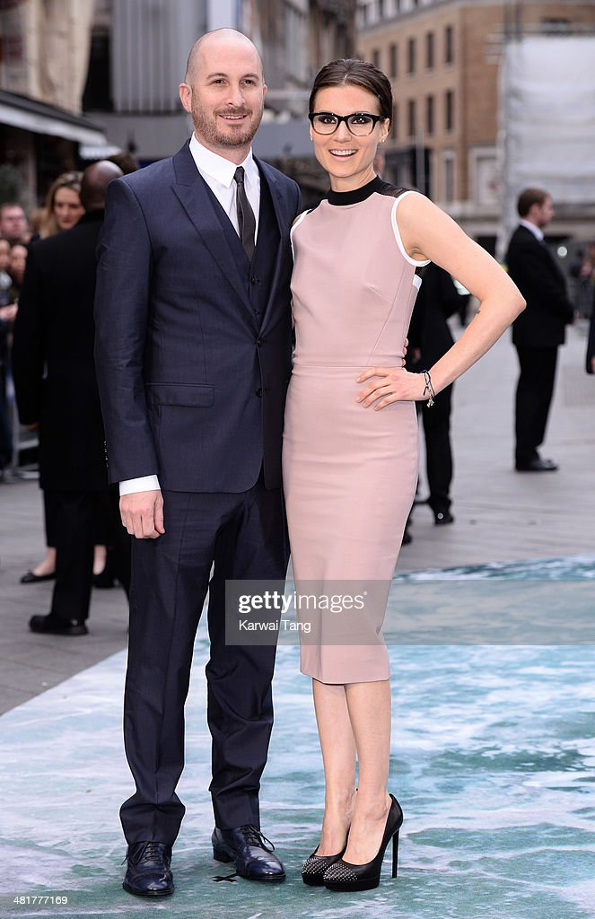 Darren Aronofsky and Brandi-Ann Milbradt attend the UK premiere of 'Noah' held at the Odeon Leicester Square on March 31, 2014 in London, England.
