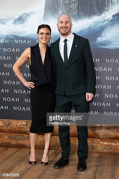 Darren Aronofsky and guest attend the 'Noah' Germany Premiere at Zoo Palast on March 13 2014 in Berlin Germany