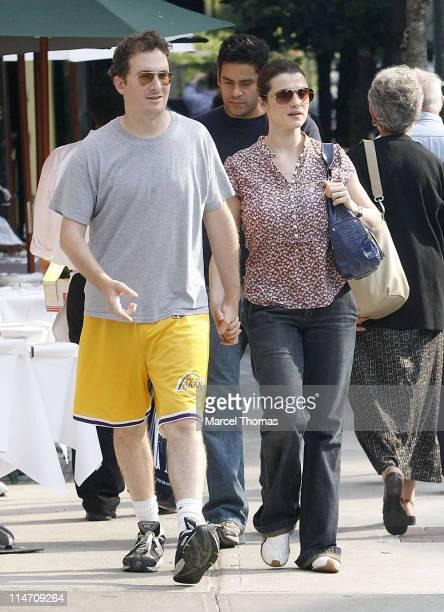 Darren Aronofsky and Rachel Weisz during Rachel Weisz Sighting in New York City June 22 2006 at SoHo in New York City New York United States