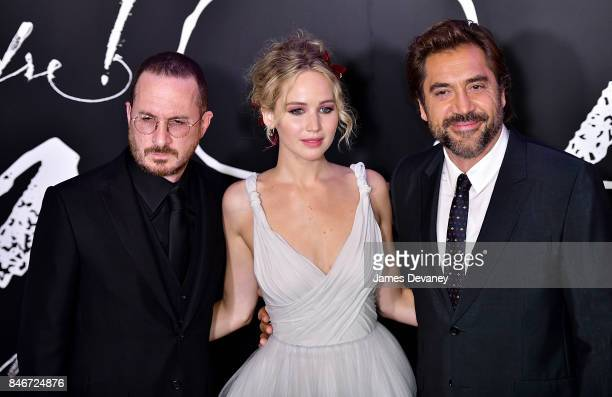Darren Aronofsky Jennifer Lawrence and Javier Bardem attend 'mother' New York premiere at Radio City Music Hall on September 13 2017 in New York City