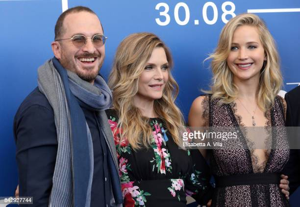 Darren Aronofsky Michelle Pfeiffer and Jennifer Lawrence attend the 'mother' photocall during the 74th Venice Film Festival on September 5 2017 in...