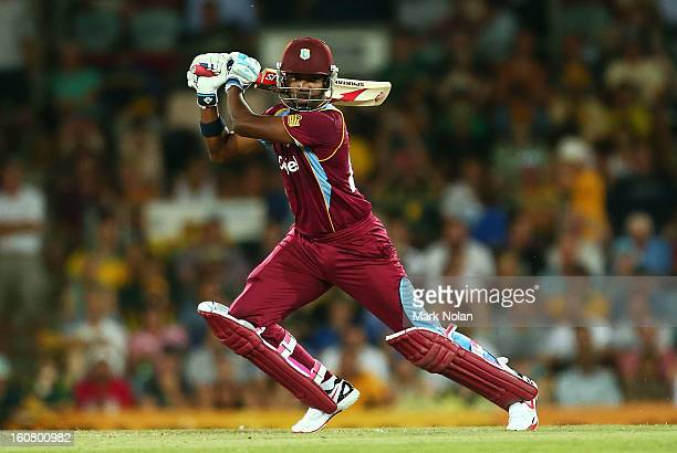 Darren Bravo of the West Indies bats during the Commonwealth Bank One Day International Series between Australia and the West Indies at Manuka Oval...