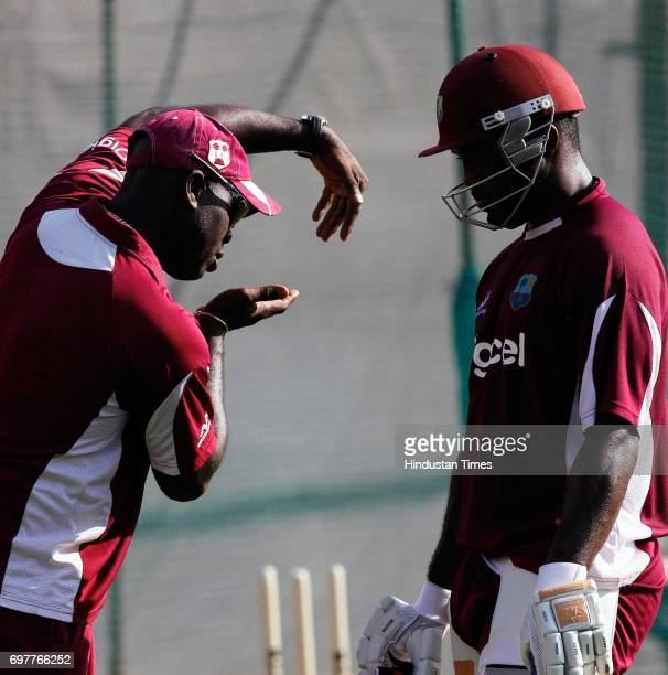 Darren Bravo of West Indies practices at 3rd One day match of Airtel ODI series held at Sardar Patel Gujarat Stadium on Sunday in Ahmedabad
