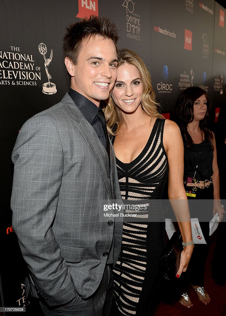 Darren Brooks (L) and <a gi-track='captionPersonalityLinkClicked' href=/galleries/search?phrase=Kelly+Kruger&family=editorial&specificpeople=228543 ng-click='$event.stopPropagation()'>Kelly Kruger</a> attend the 40th Annual Daytime Emmy Awards at the Beverly Hilton Hotel on June 16, 2013 in Beverly Hills, California. 23774_001_0781.JPG