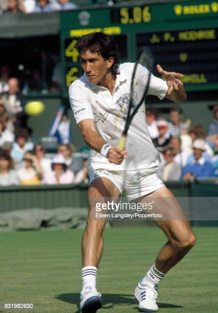 Darren Cahill of Australia in action during a men's singles match at the Wimbledon Lawn Tennis Championships in London circa June 1989 Cahill lost in...